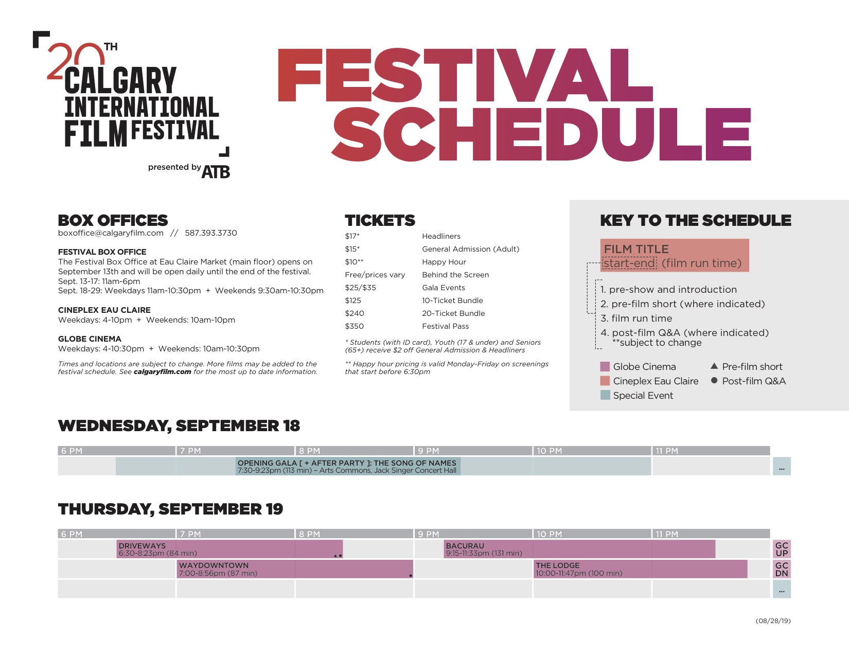2019 Guide and Schedule » Calgary Film